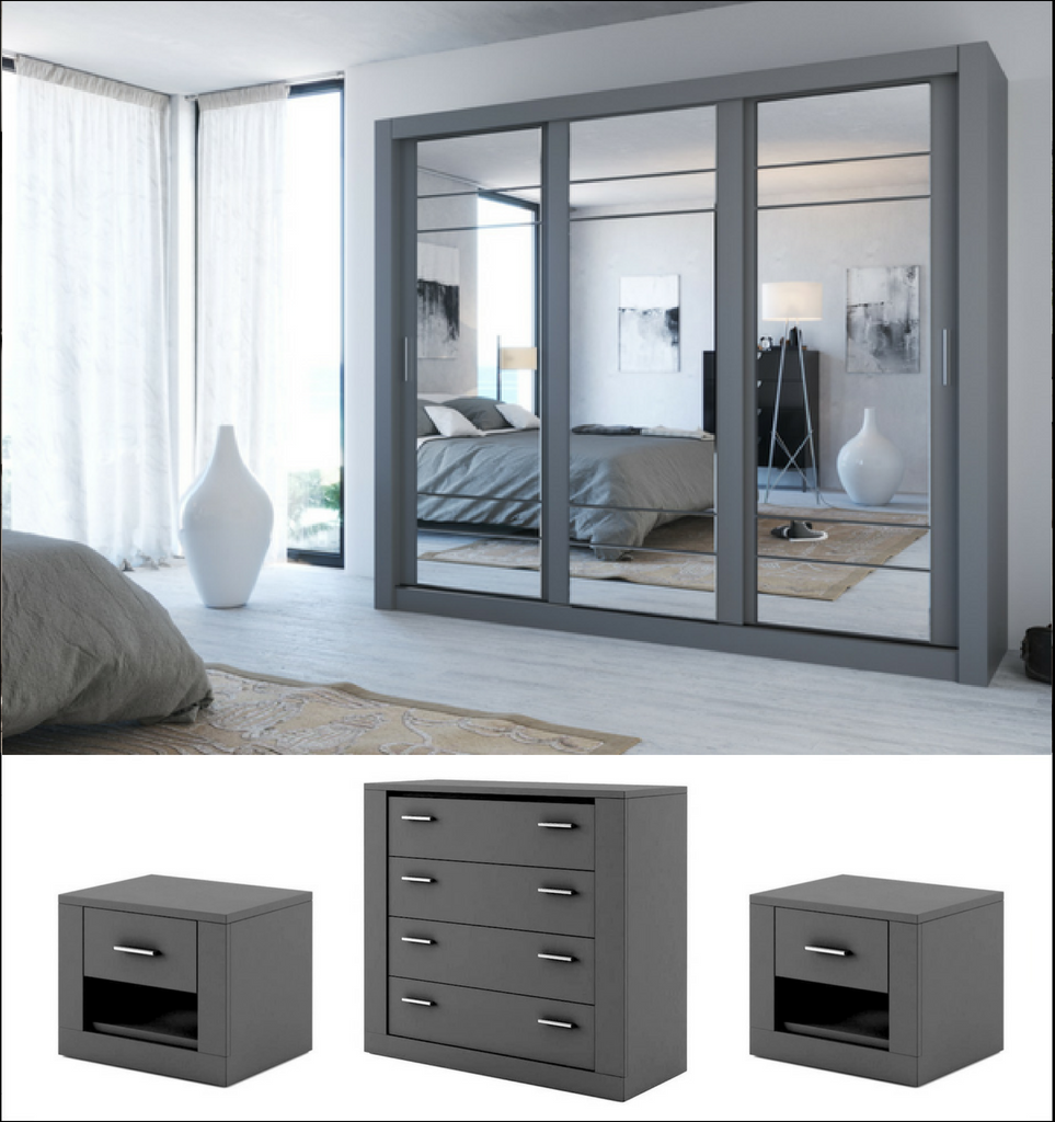 Instrument Cleo 2 Bedroom Set 250cm Grey Matt In 2019