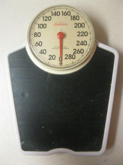 Vintage Sunbeam Bathroom Scale Health O Meter By Paperwoodvintage 35 00