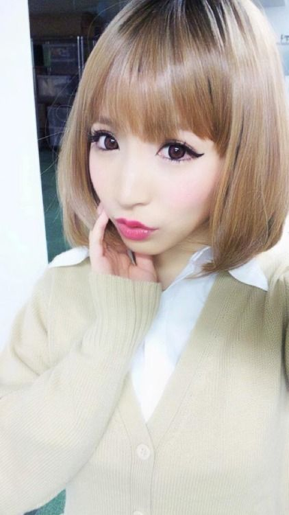 #gyaru #ulzzang Short Blonde Hair | Cute hairstyles for short hair, Short hair styles, Short ...