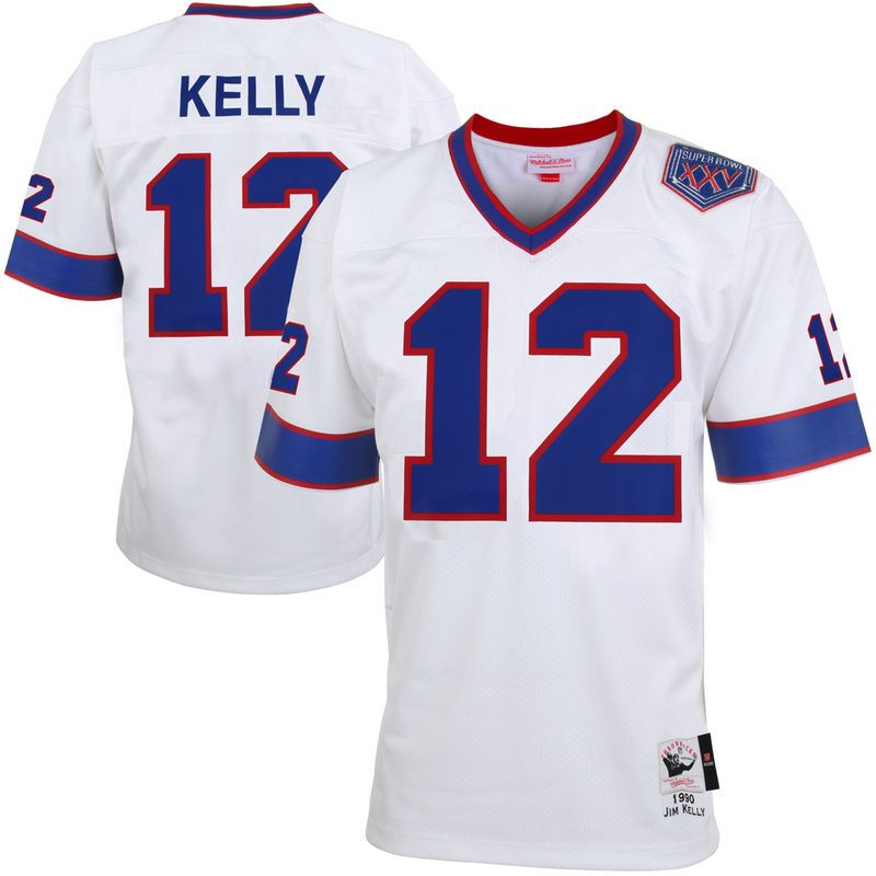 reputable site 46ade 80c9b Jim Kelly Buffalo Bills Mitchell & Ness Super Bowl XXV Patch ...