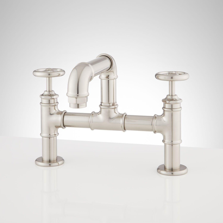 Watts Bridge Bathroom Faucet With Top Handles | Faucet, Bridge and ...