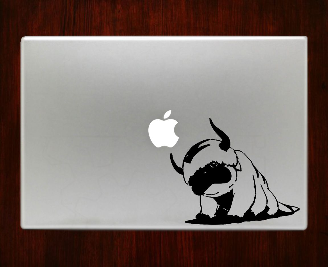 Avatar appa airbender decal sticker for macbook pro air retina 11 13 15 17 inch macbook laptop easy application in high resolution