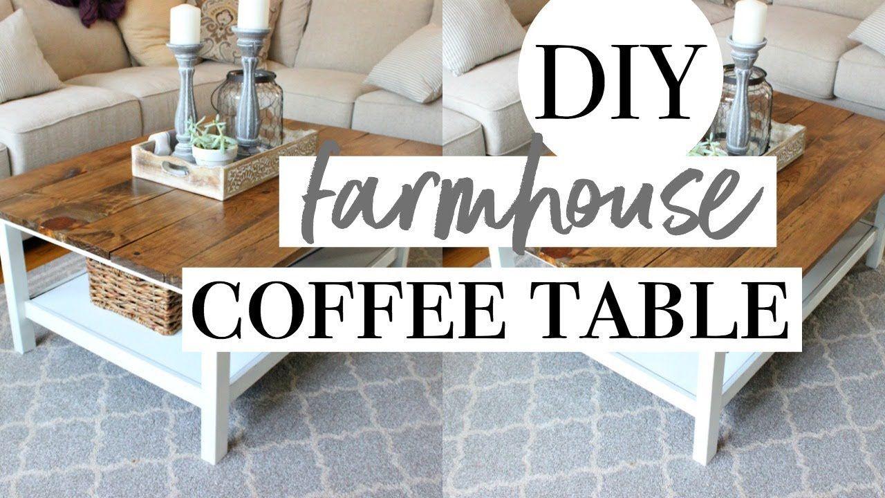 Diy farmhouse coffee table easy ikea hack diy