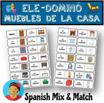 Juego Domino Para Aprender El Vocabulario De Los Muebles De La