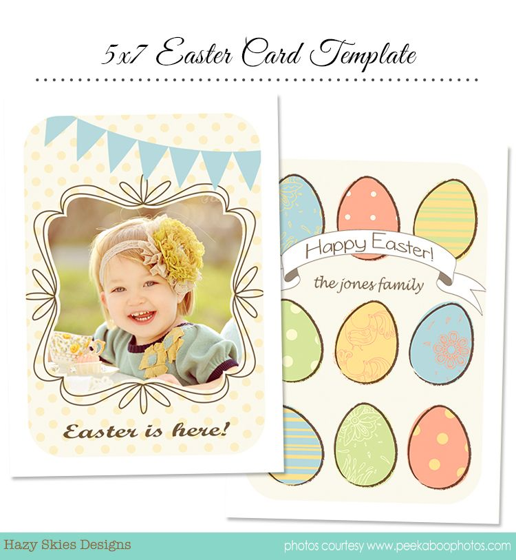 Easter Card Template For Photographers  TemplatesFonts