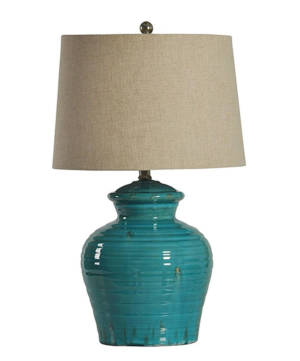 This Turquoise Jug Table Lamp By Stylecraft Is Perfect