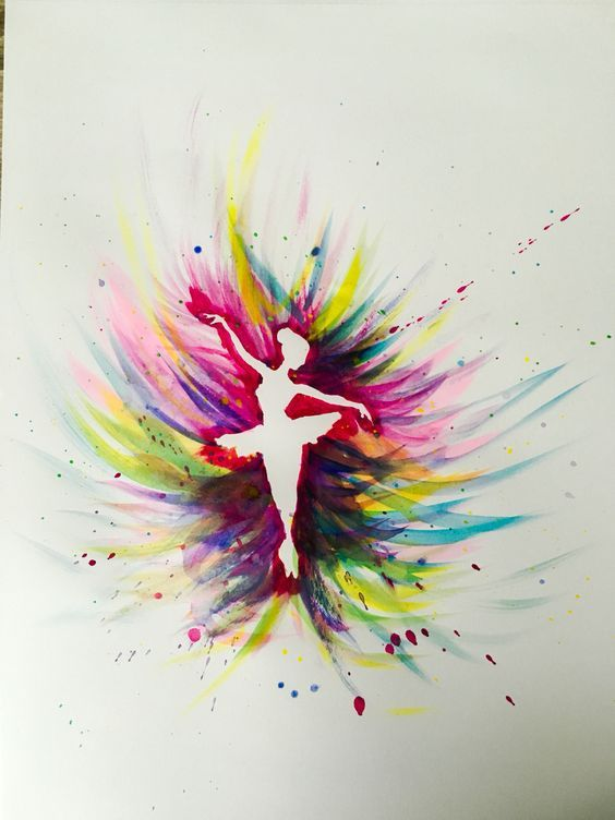 Colorful ballerina watercolor beginner painting idea you for How to use watercolors for beginners