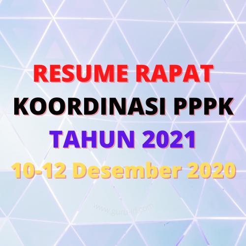 Resume Rapat Koordinasi Pppk 10 12 Desember 2020 Di 2020 12 Desember Sekolah Negeri Pendidikan