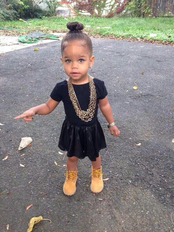 Beautiful Mixed Babygirl With Style