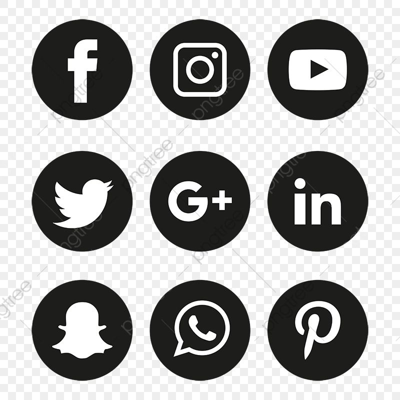 Social Media Icons Set Logo Vector Illustrator Free Logo Design Template Logo Clipart Social Icons Logo Icons Png And Vector With Transparent Background For Logo Design Free Templates Social Media