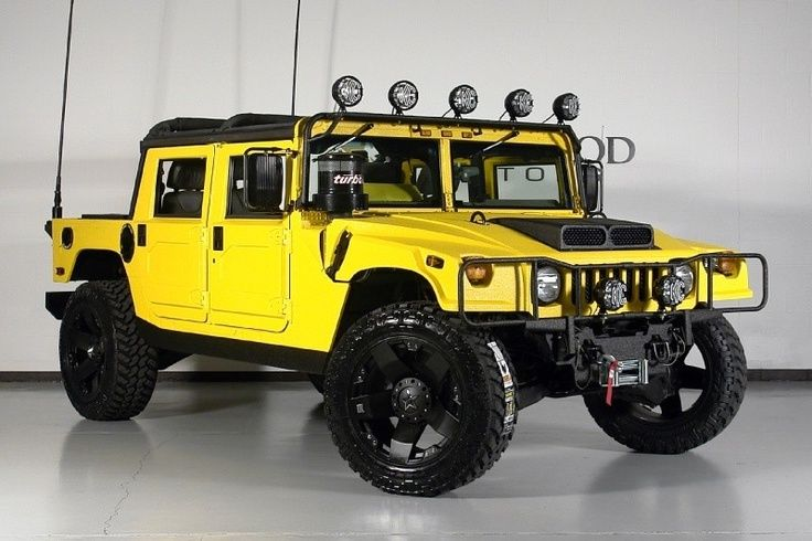 02 Hummer H1 Open Top with Yellow Kevlar Liner | Toy Box | Pinterest