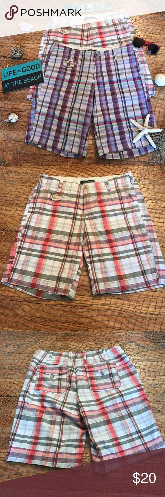 Eddie Bauer Short Bundle Just In Time For Summer Must Have Short Bundle From Eddie Bauer! Size:4. EUC. Multicolored Plaid designs. Both have belt loops, zipper & button closure, 3 front pockets & 2 back pockets. Perfect every day casual shorts, great for vacation! 100% cotton. Machine wash tumble dry. NO TRADES. Eddie Bauer Shorts