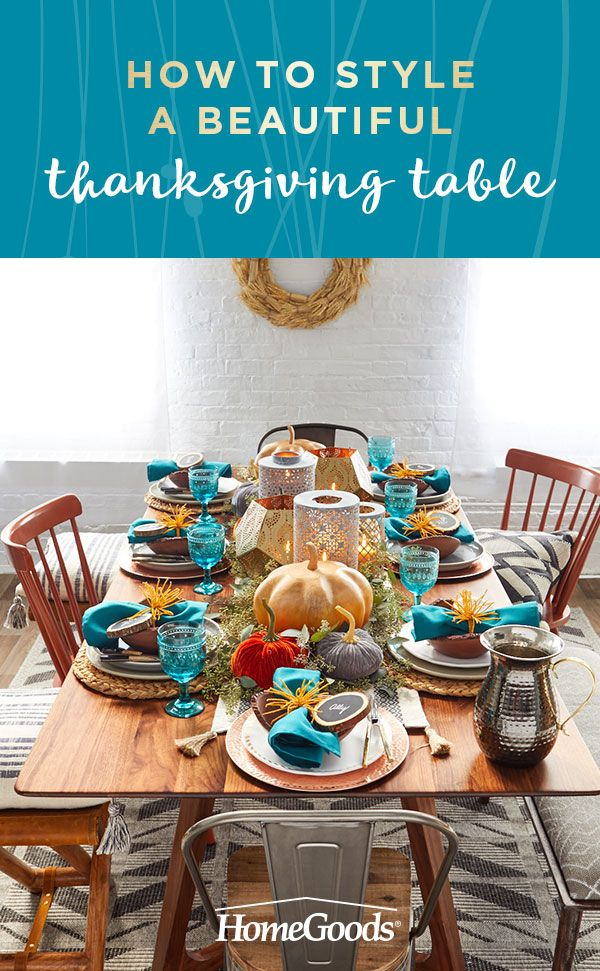 Create a Thanksgiving They\'ll Love | Thanksgiving table, Place ...