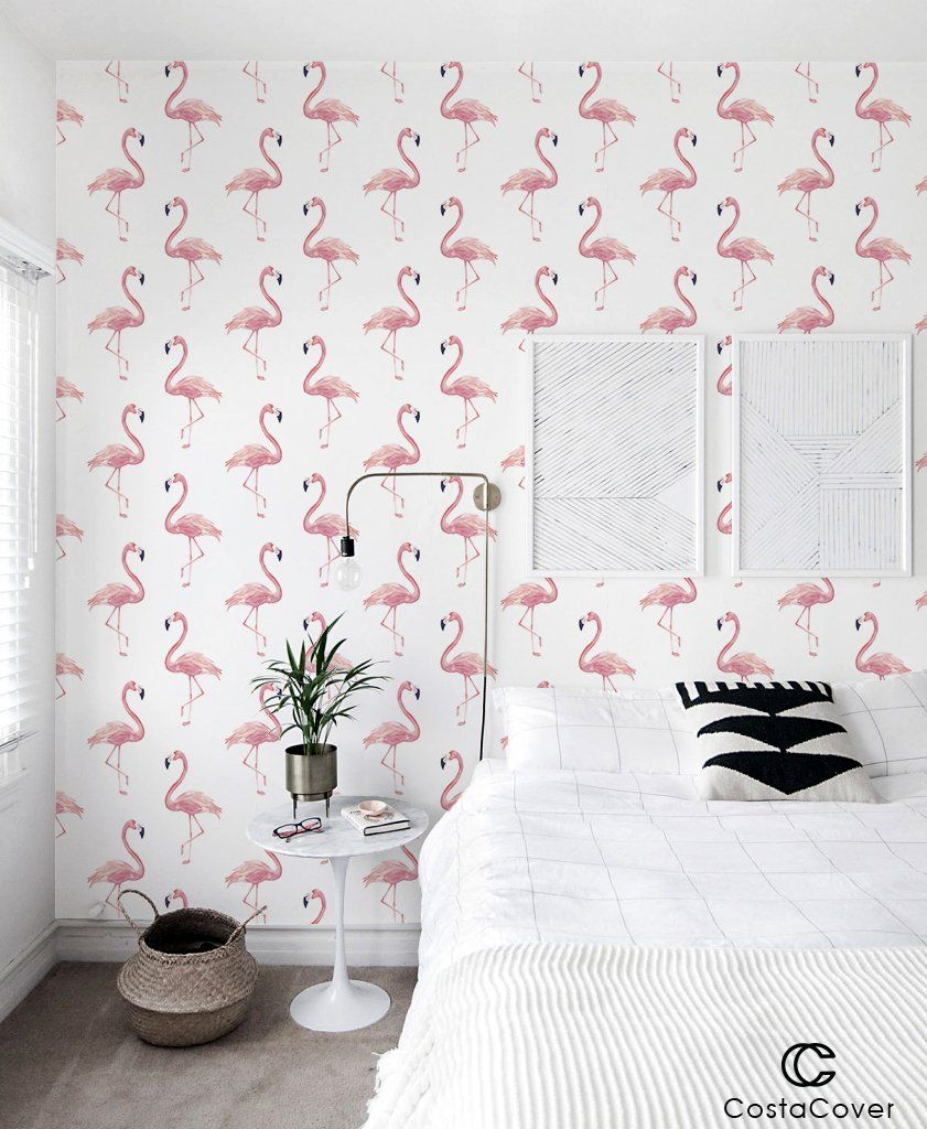 Peel and Stick Removable Wallpaper Watercolor Tropical