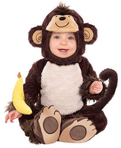 Girls Boys Baby Toddler Monkey Around Fancy Dress Costume Outfit u0026 Banana Rattle  sc 1 st  Pinterest & Costumes USA Monkey Around - 6-12 Months Costumes USA http://www ...
