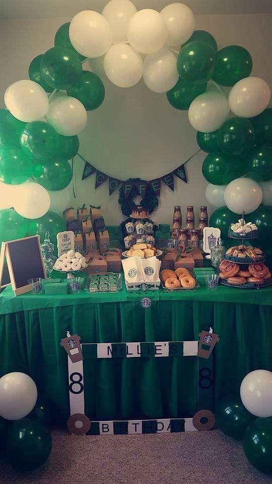 Starbucks Birthday Party Ideas Photo 8 Of 11 Starbucks
