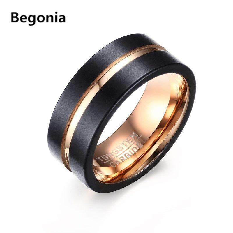 Schwarz ringe tungsten