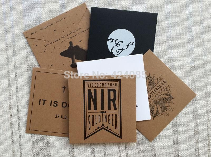 custom make kraft paper cd dvd sleeves case envelopes gift jewelry