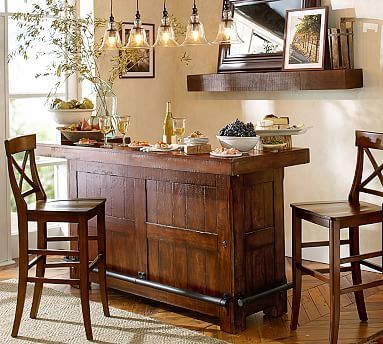 Rustic Ultimate Bar Large Potterybarn Bar Furniture Home