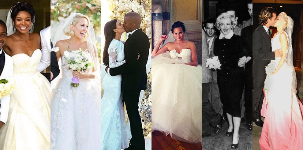 The 47 Best Celebrity Wedding Dresses - Wedding Gown Ideas from ...