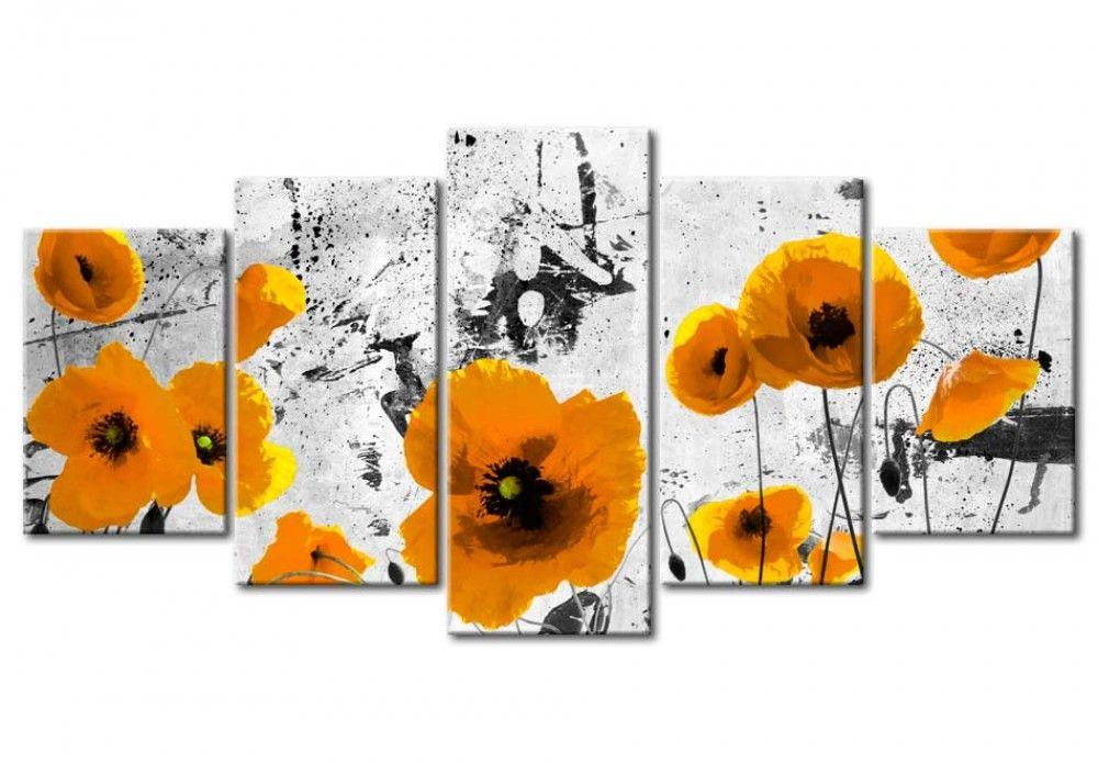 Poppies In The Royal Color Mohnblumen Blumen Wandbild Mohnblume Und Blumen