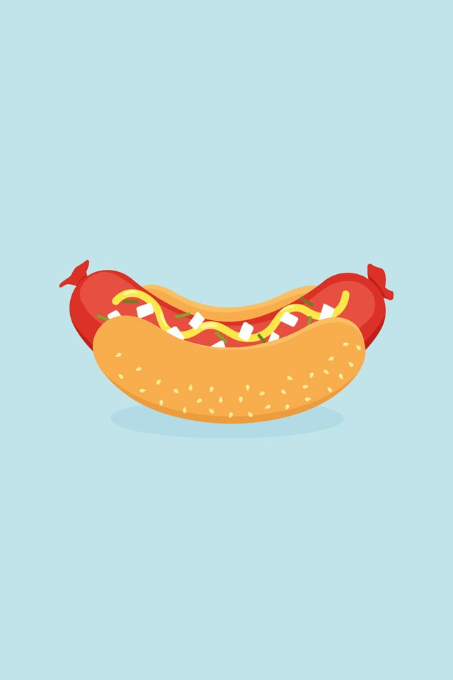 Hot Dog Find More Minimalistic Iphone Wallpapers And