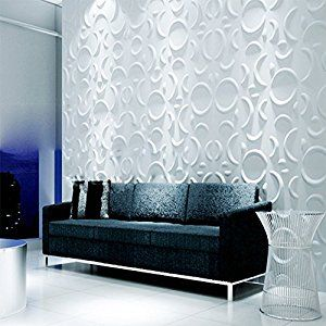 Amazon.com: yazi 3D Wall Panels House Decoration Board Kid's Room Wall Background Star Design,12x12 inch,white Color 12PCS: Home & Kitchen