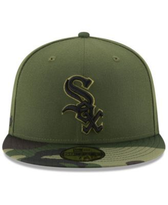 purchase cheap dc8e0 803ef New Era Chicago White Sox Memorial Day 59FIFTY Cap - Green 7 1 8