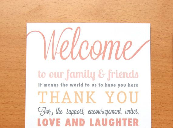 Rustic Wedding Welcome Thank You Note By Thatnoisegallery 2 00