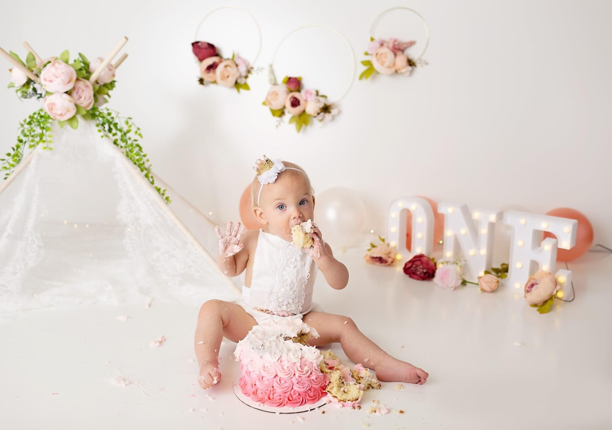 First birthday, photoshoot, boho, baby girl, one year old