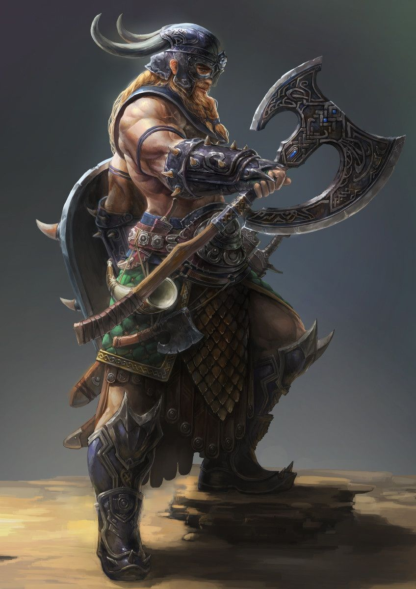 Bárdaro | Anime art in 2019 | Viking warrior, Fantasy ...
