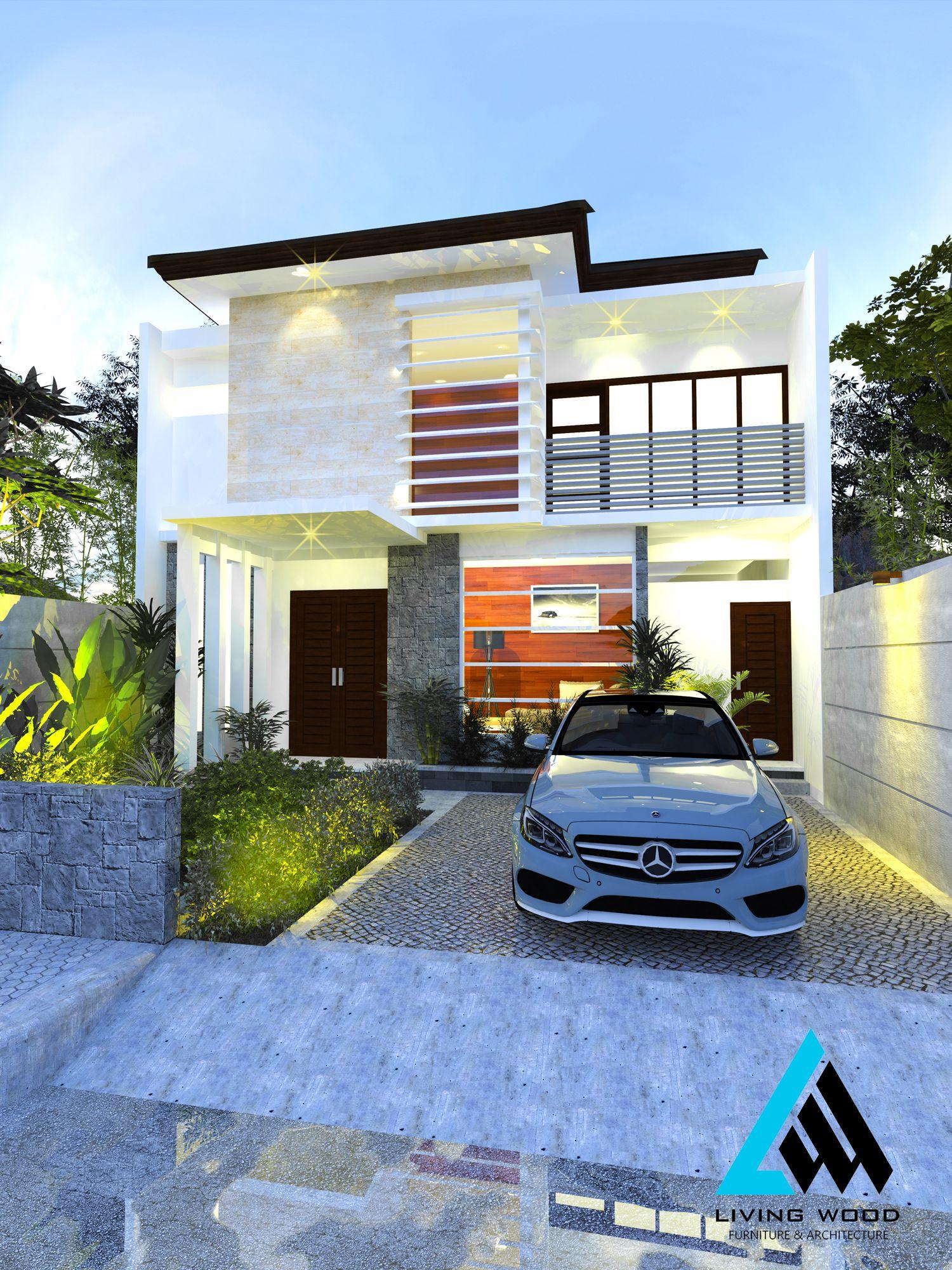 Medium house by living wood studio architecture building facade indonesia bali design project also rh za pinterest