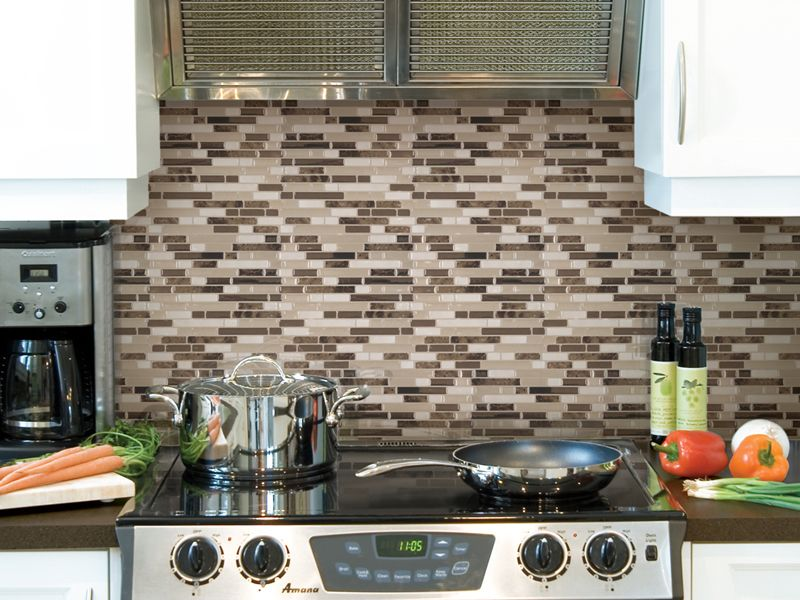 Kitchen Backsplash Necessary since smart tiles are easily washable, they are ideal behind a