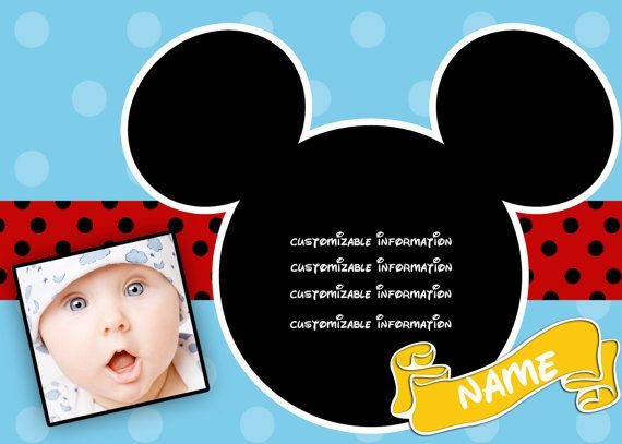 Mickey Mouse Personalized birthday party invitations – Personalized Mickey Mouse Birthday Invitations