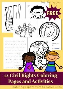Civil Rights Coloring Pages And Activity Pack Linky Black