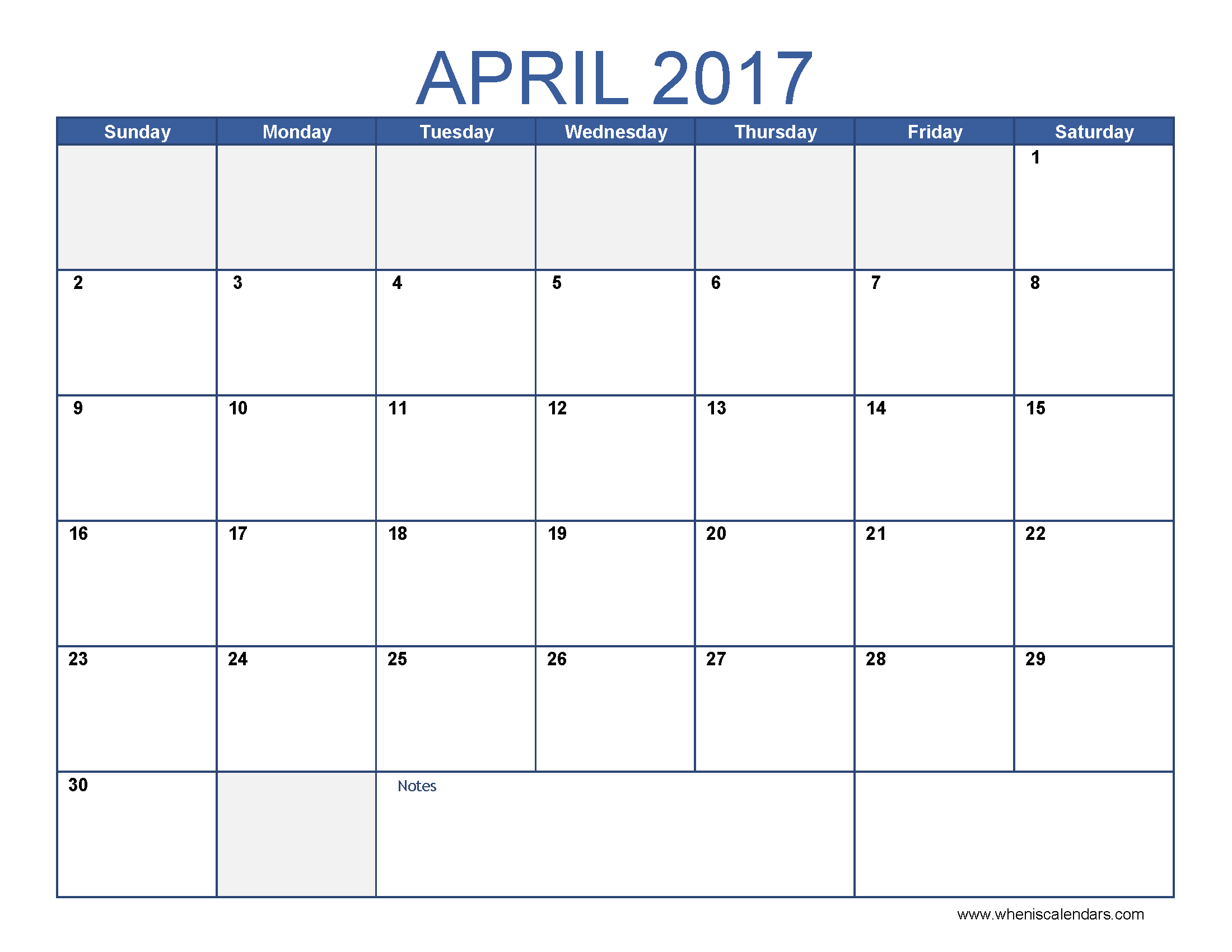 Free April  Calendar Printable Templates  Webelations