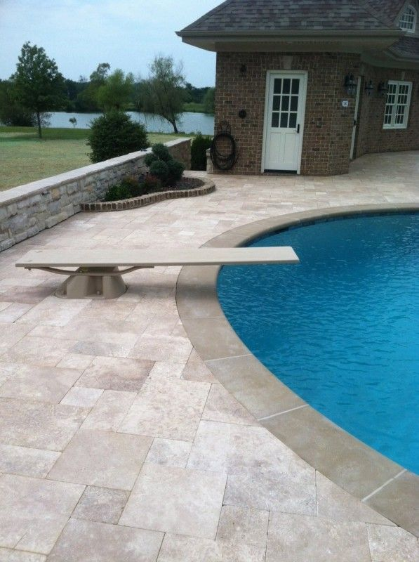 Travertine Pavers For Pool With Images Pool Paving Travertine