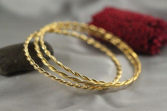Stacking Bracelet 14k Gold Handmade Bangle By Liranshani