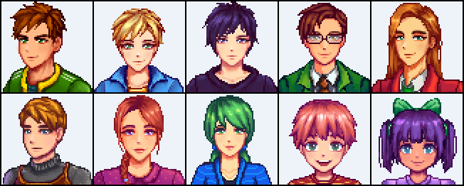 Prettier villager portraits! | Games & Such | Portrait, Pretty
