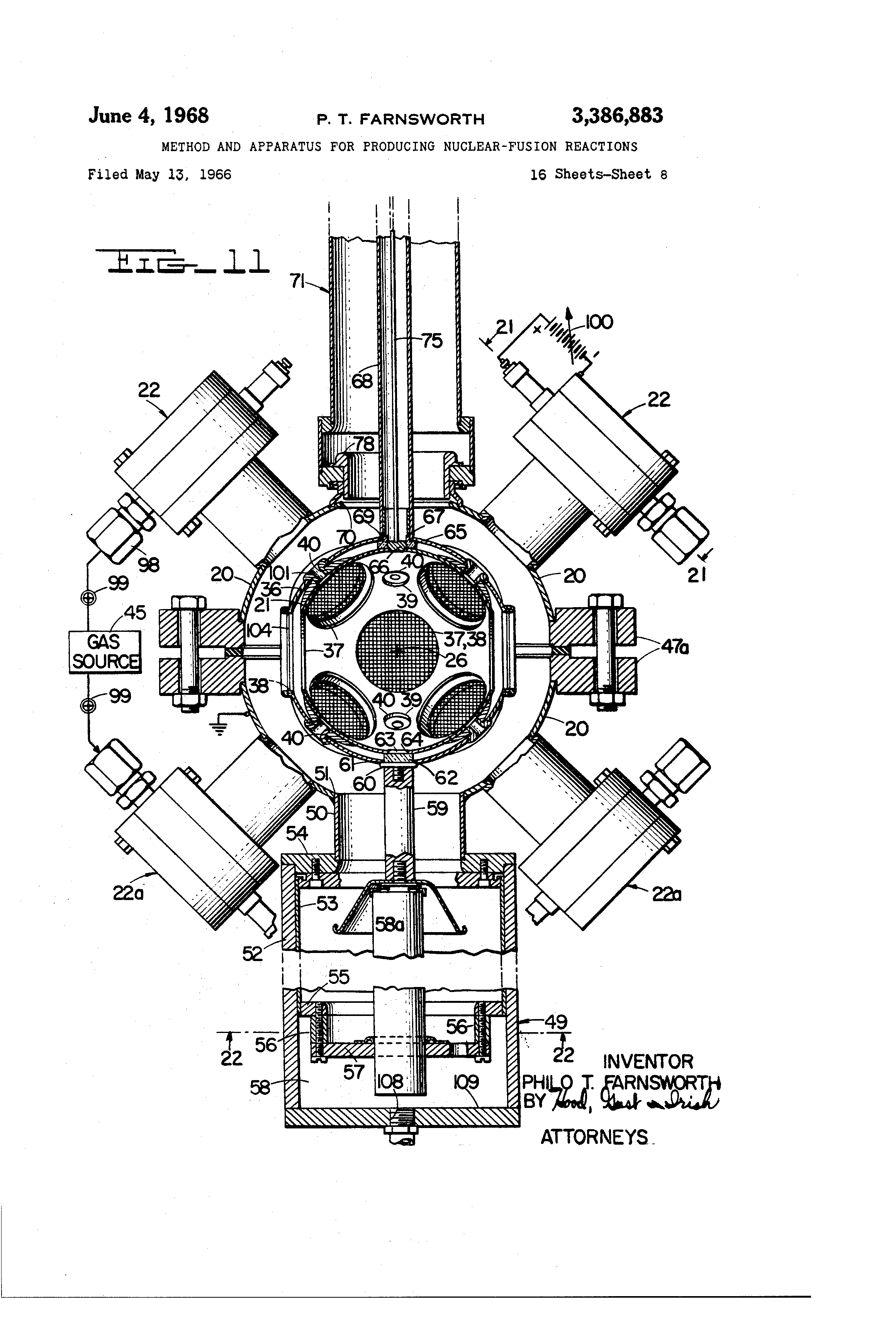 Method and apparatus for producing nuclear fusion reactions method and apparatus for producing nuclear fusion reactions philo t farnsworth 1966 pooptronica Image collections