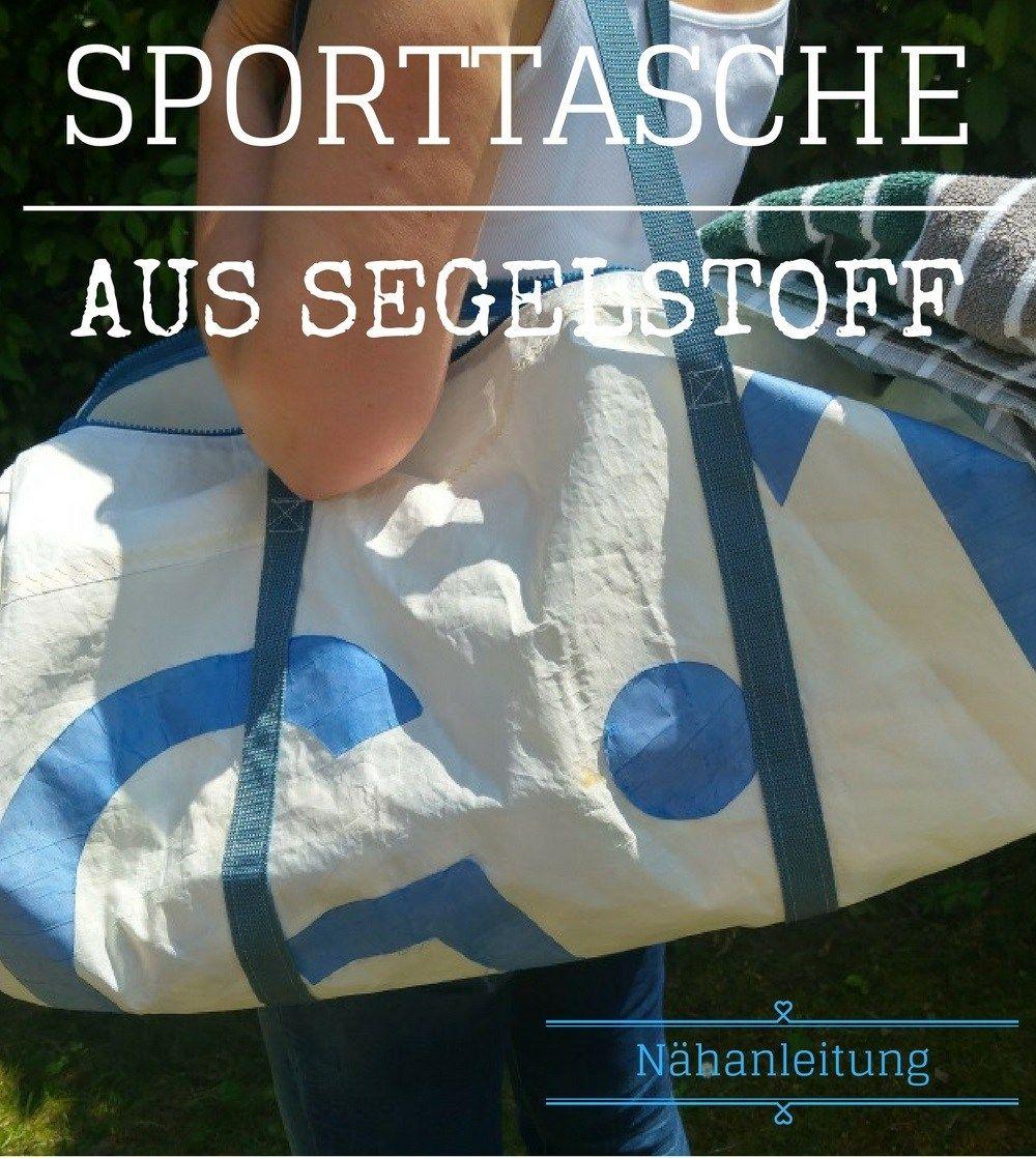 Gratis Nähanleitung für eine Sporttasche aus Segeltuch (Dufflebag ...