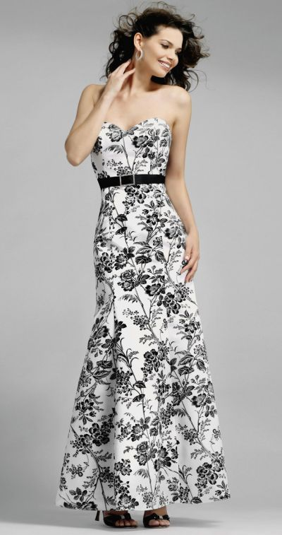 Alexia Designs Black and White Floral Print Bridesmaid Dress 4010 ...