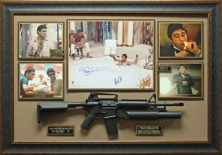 Al Pacino Steven Bauer Signed Scarface Photo Display Autographed