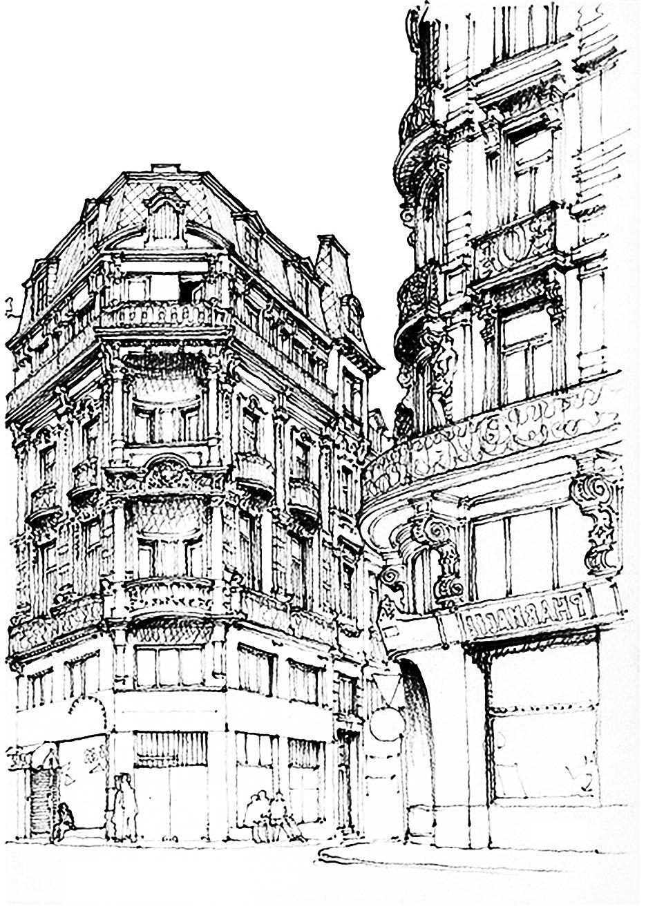 Free coloring page coloring-adult-paris-street. | Paris colouring ...