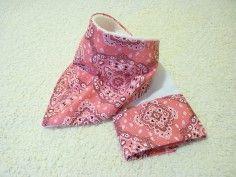 kit baby bandana rosa