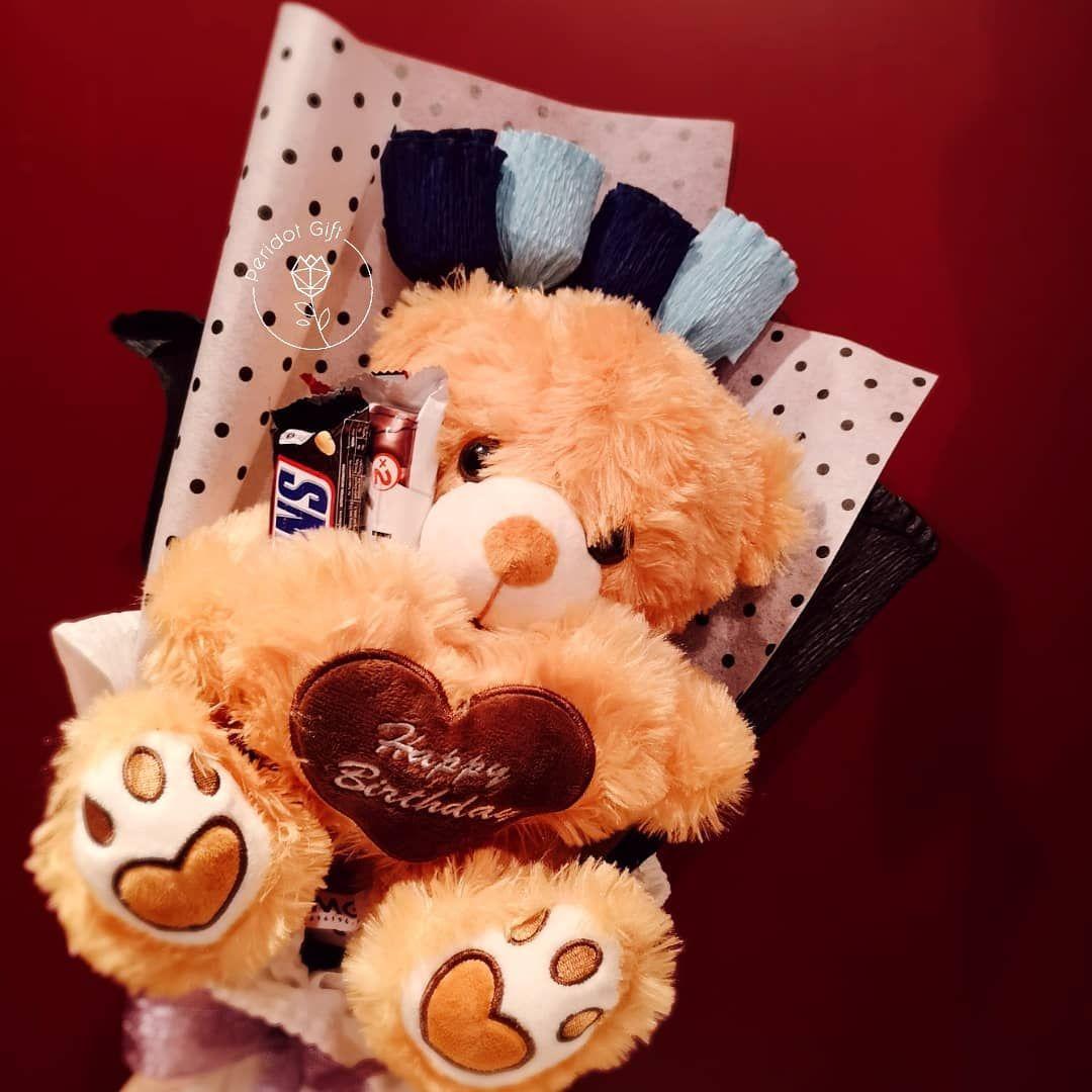 Birthday teddy personalised gifts door gifts hantaran