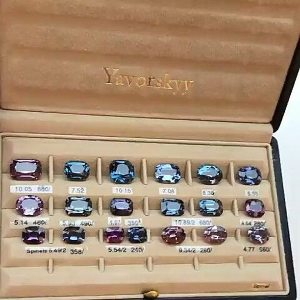 """38 Likes, 2 Comments - Suma Boutique (@sumagemboutique) on Instagram: """"Another Shiny Collection of Natural Spinels from Blue to Violet #yavorskyy  #naturalspinel…"""""""
