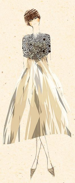 Photo of a/w inspired fashion illustration by tommy pang
