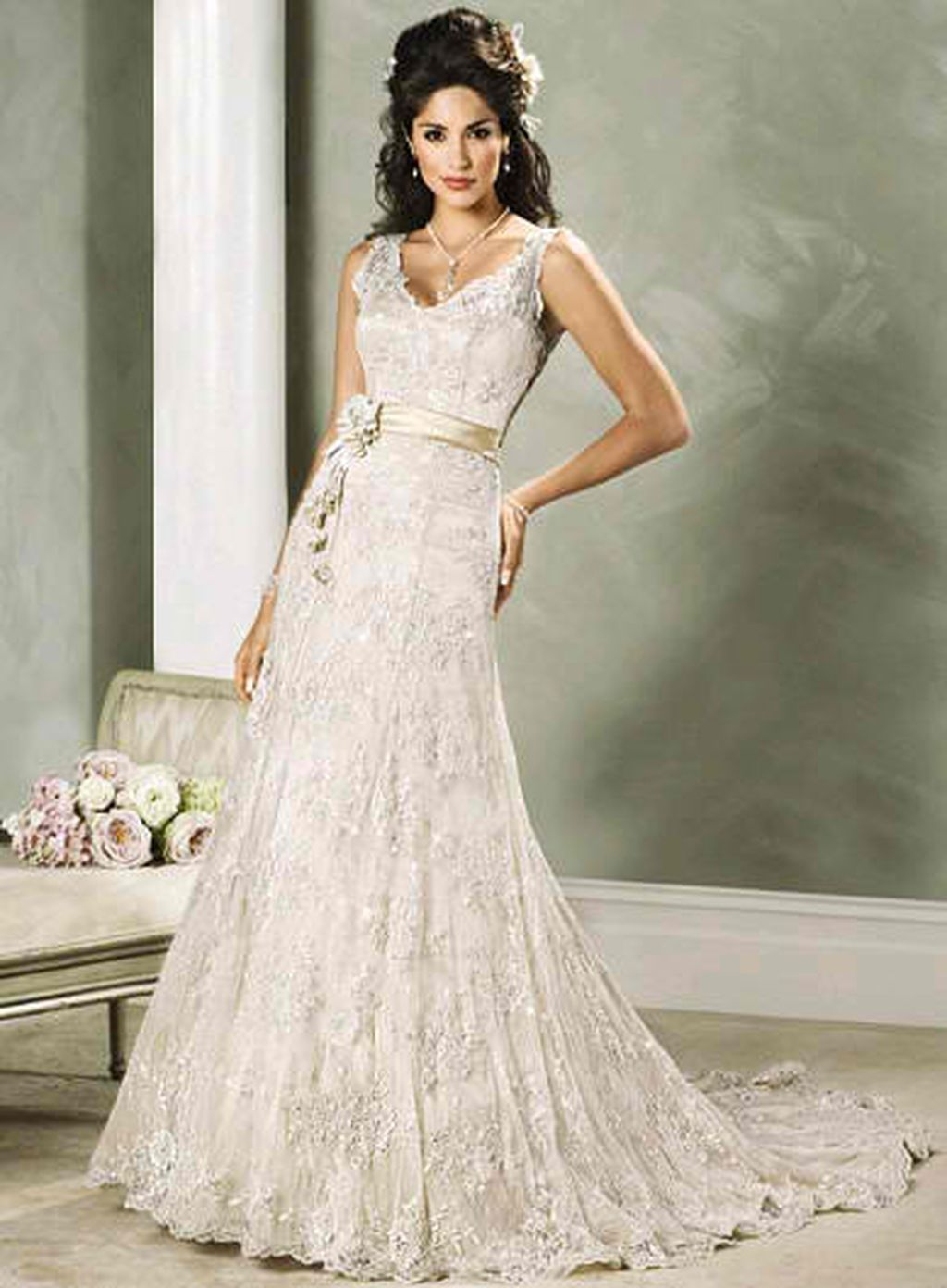 simple but elegant vintage white wedding dress ideas white