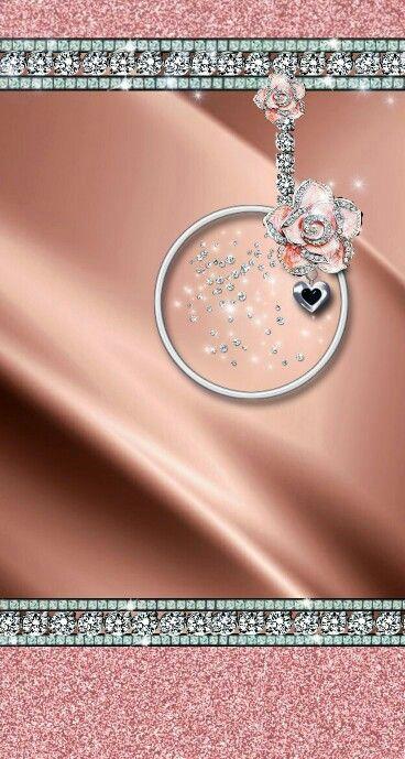 Rose gold giltters and bling wallpaper diamond - Rose gold glitter iphone wallpaper ...